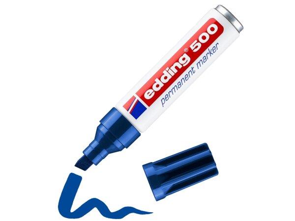 EDDING 500 permanent marker blau - 1 Stk