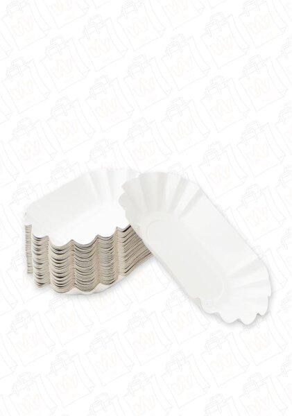 Pappschalen P16 10,5x17,5x3cm KU0B oval - 2000 Stk