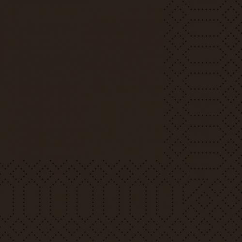 DUNI Zelltuch Servietten Schwarz 24x24cm 1/4 Falz -